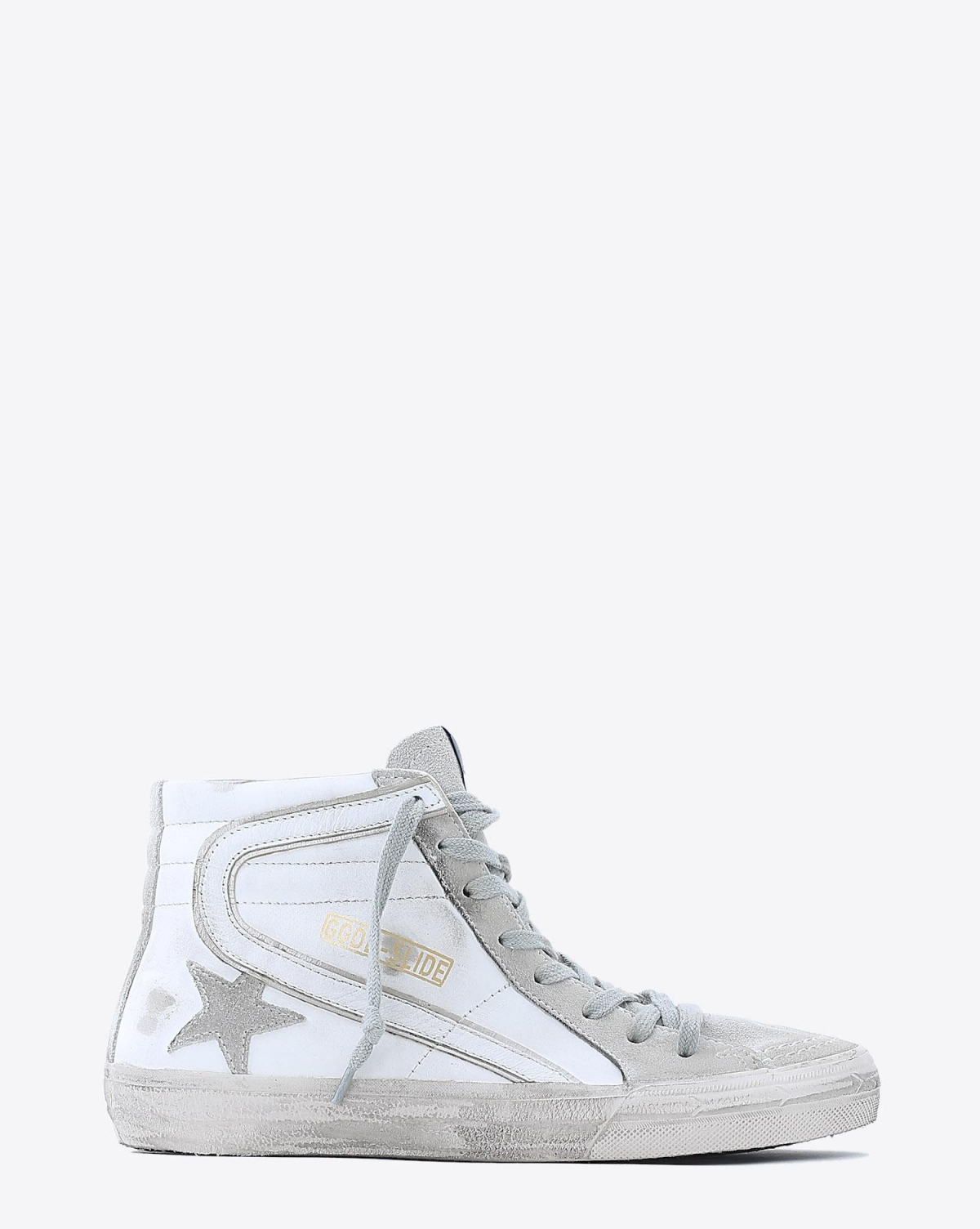 Golden Goose Woman Permanent Sneakers Slide - White Leather