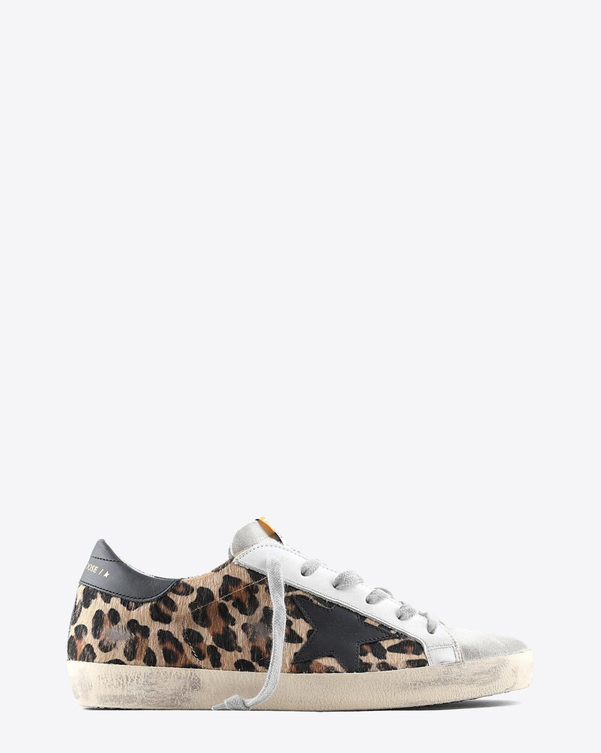 Golden Goose Woman Permanent Sneakers Superstar Pony léopard 80189