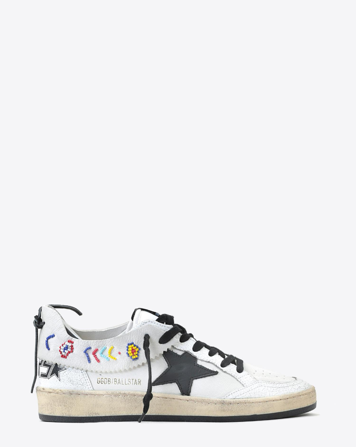 Golden Goose Woman Pré-Collection Sneakers Ball Star - White Leather - Beads