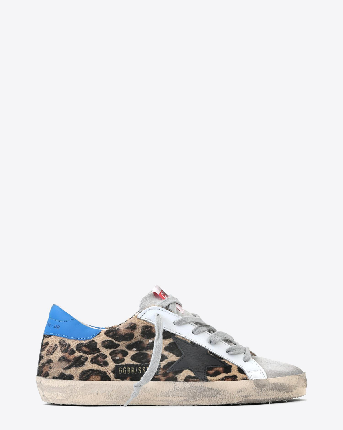 Golden Goose Woman Pré-Collection Sneakers Superstar - Snow Leopard- Royal