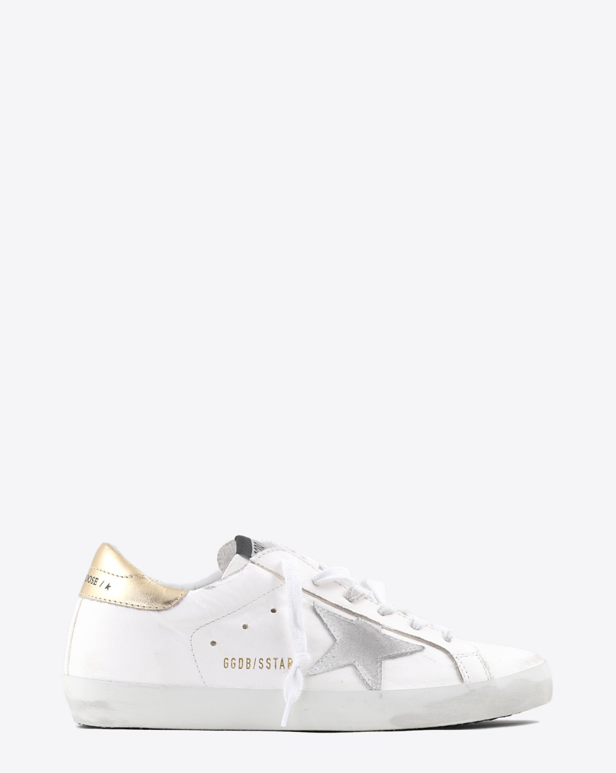 Golden Goose Woman Pré-Collection Sneakers Superstar - White Leather - Washed Gold