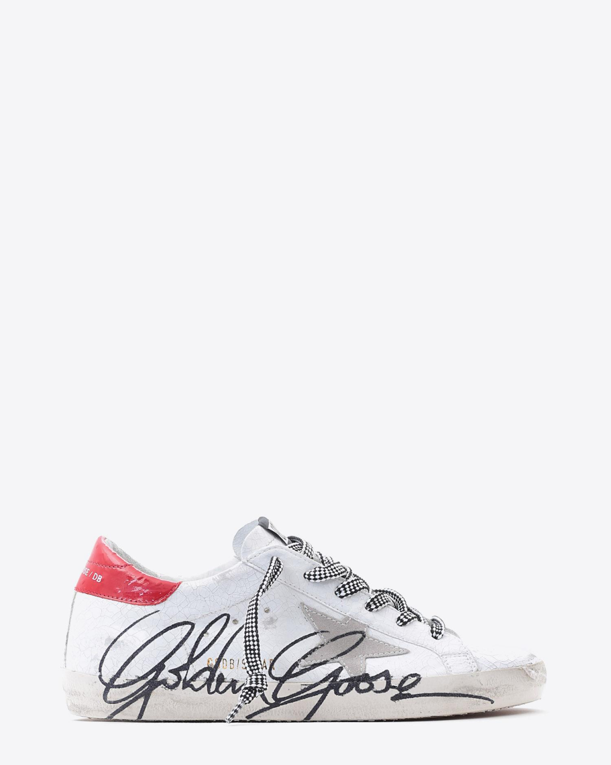 Golden Goose Woman Pré-Collection Sneakers Superstar - White Patent Crack- Ice Star