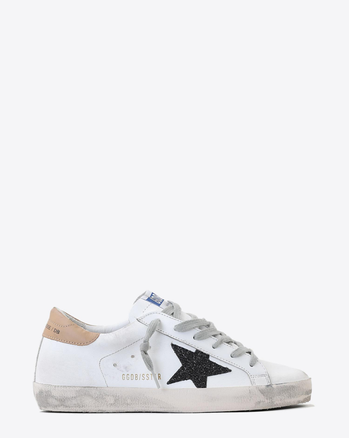 Golden Goose Woman Pré-Collection Sneakers Superstar - White Sand - Black Glitter