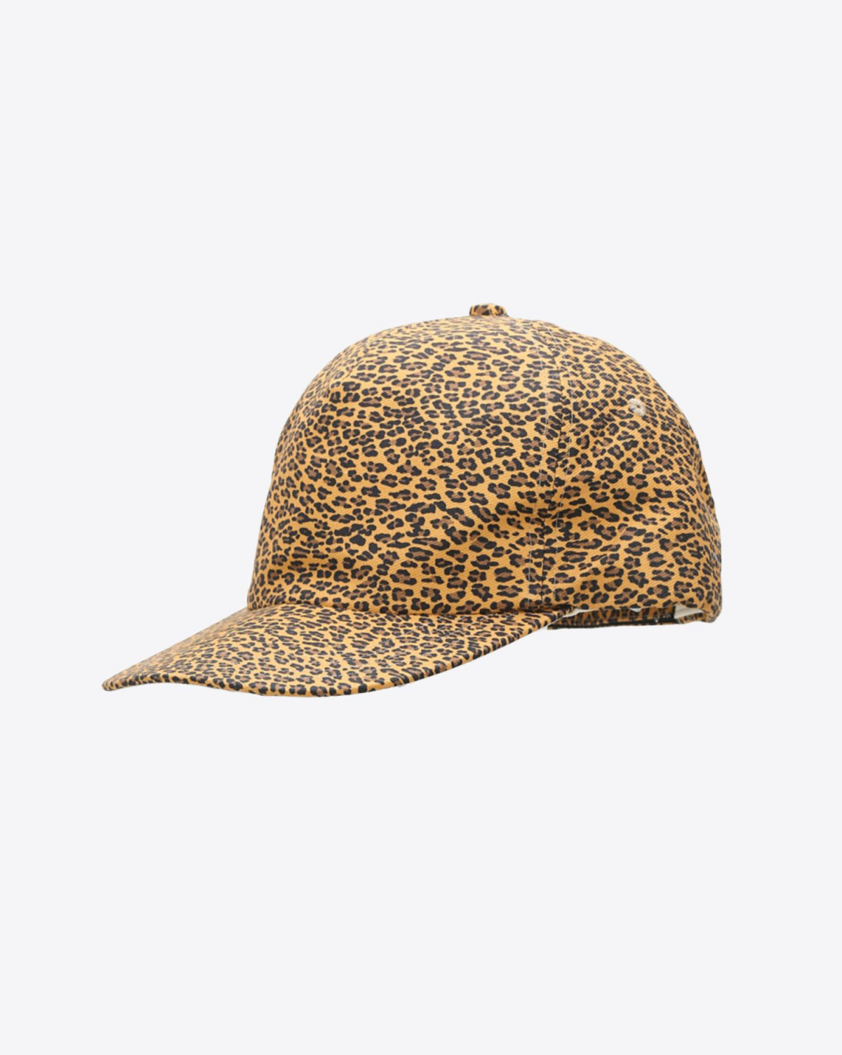 R13 Denim Collection Flat Brim Baseball Cap - Mini Leopard