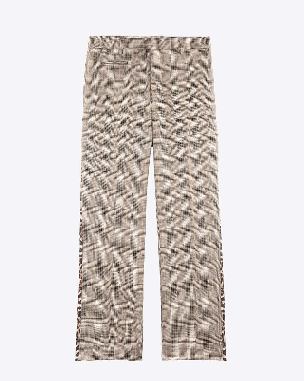 R13 Denim Pré-Collection Tuxedo Trouser - Brown Glenplaid W/Leopard