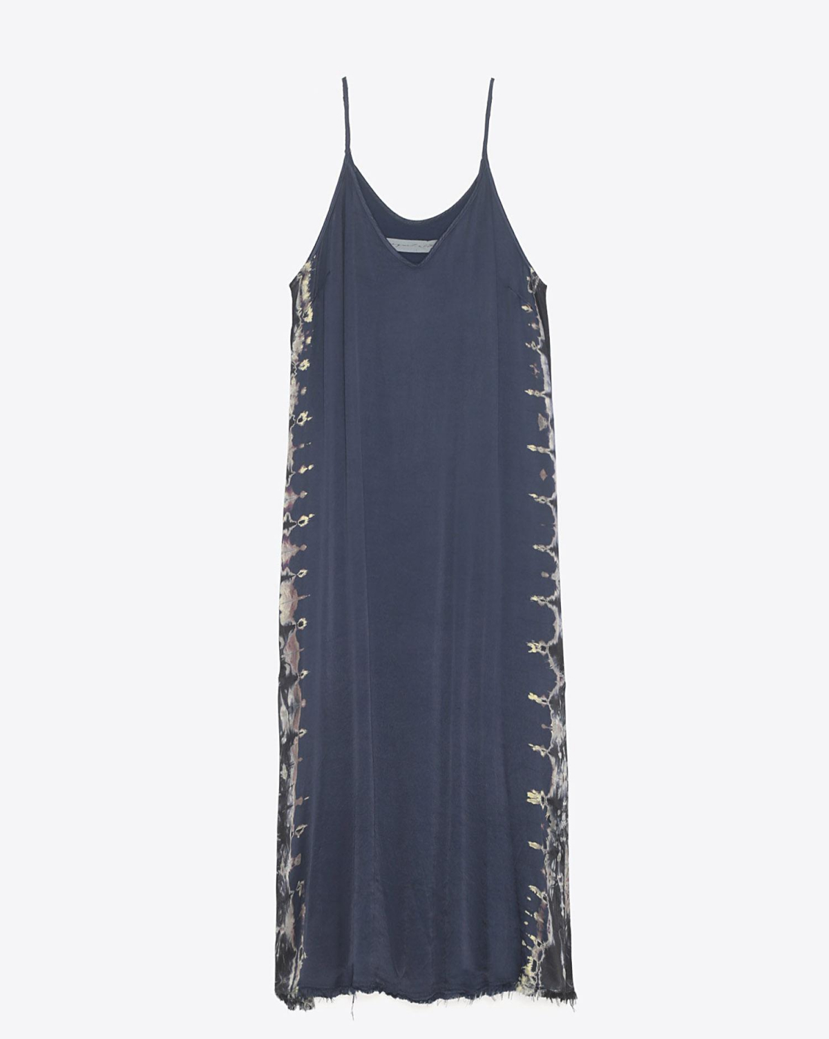 Raquel Allegra Pré-Collection Little Slip Dress - Indigo Tie Dye