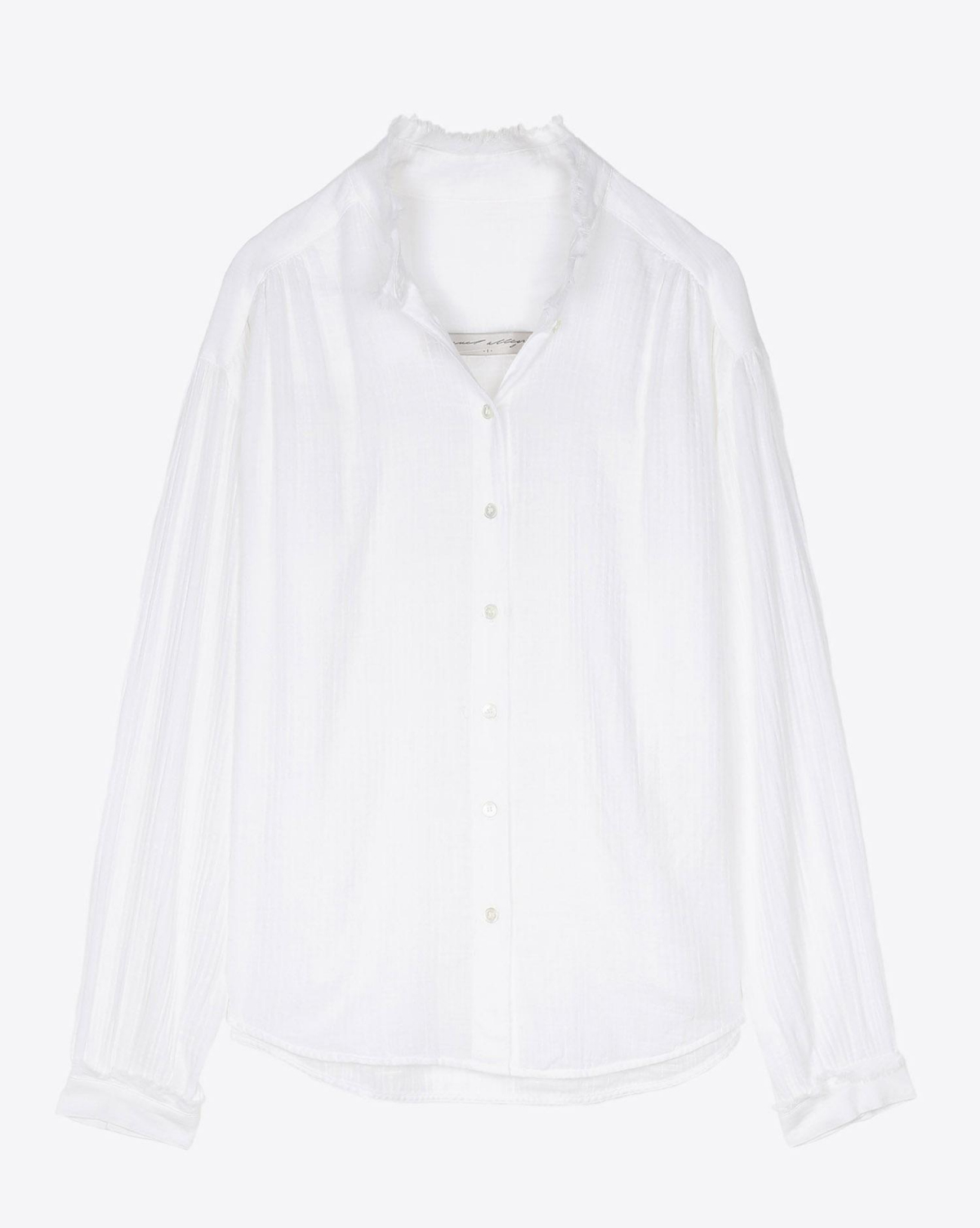 Raquel Allegra Shirred Blouse - Washed White