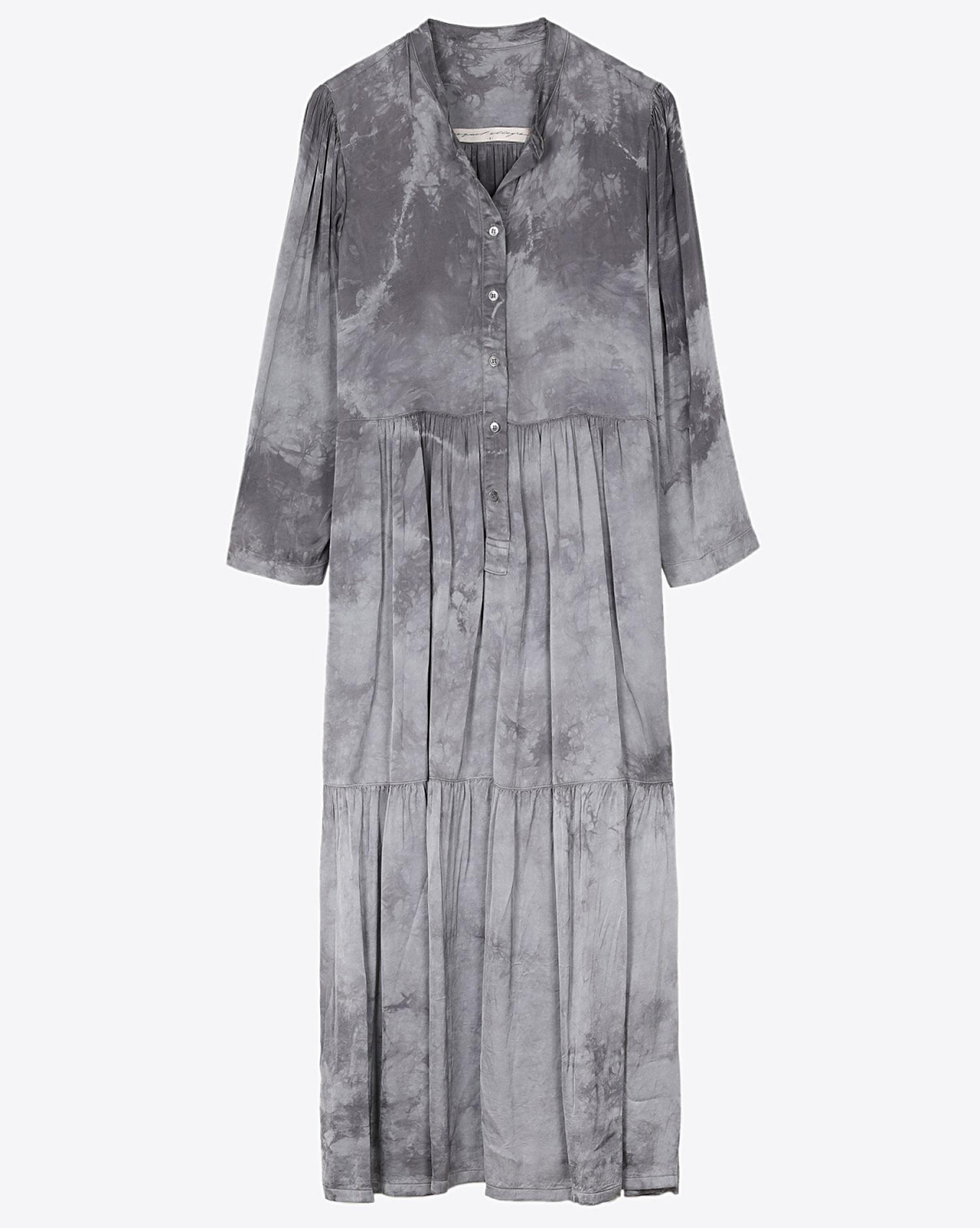 Raquel Allegra Twila Dress - Silver Tie Dye