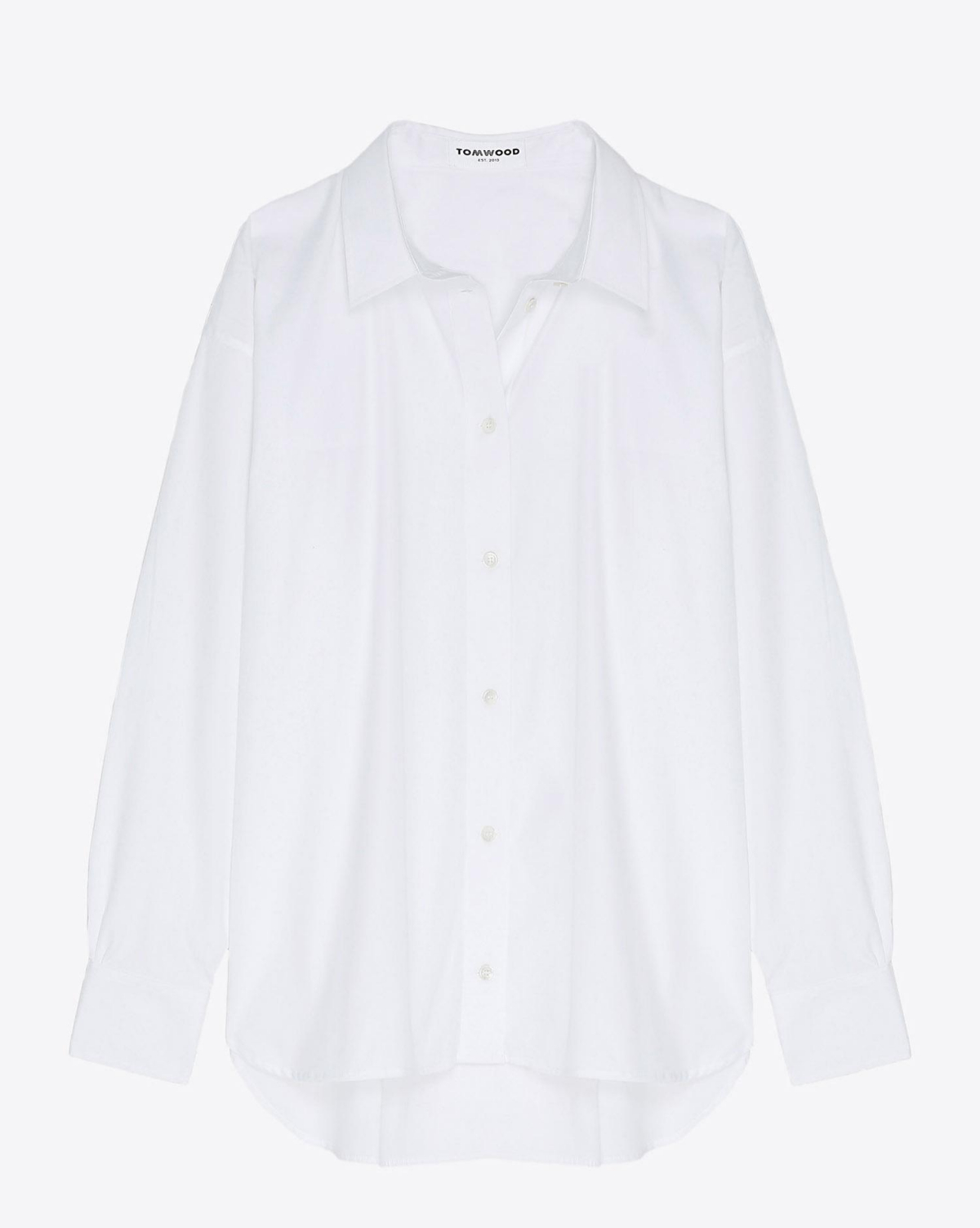 Tom Wood Kim Shirt - Virgin White  Blanc