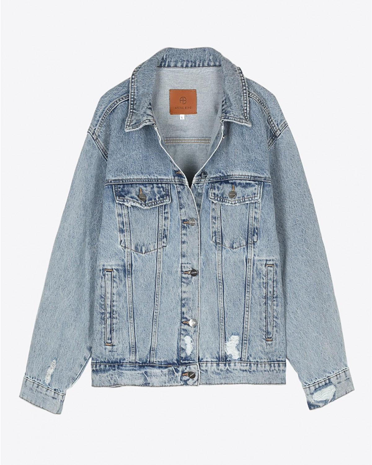 Anine Bing Rory Denim Jacket - Vintage Blue