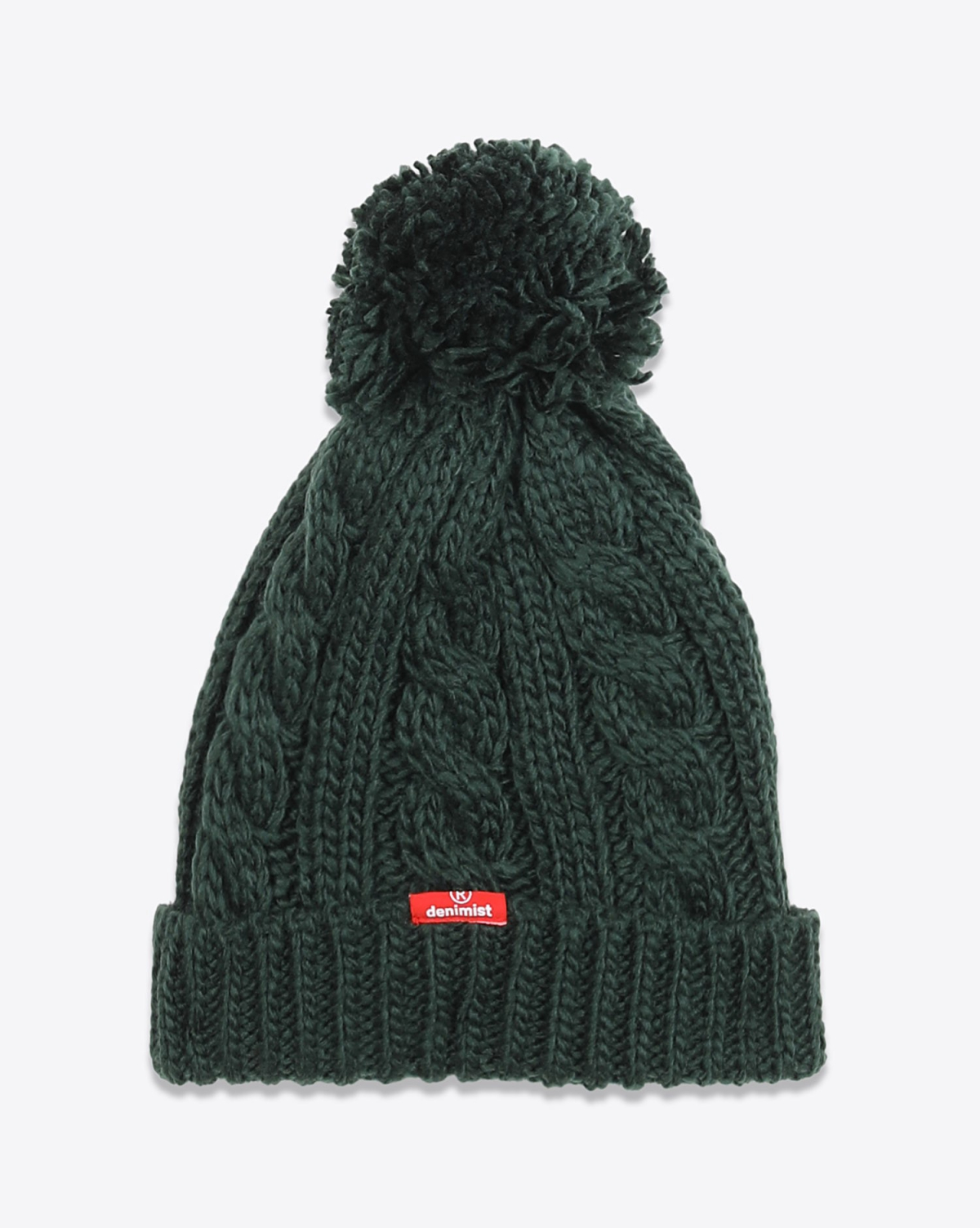 Denimist Pompom Beanie - Forest Green