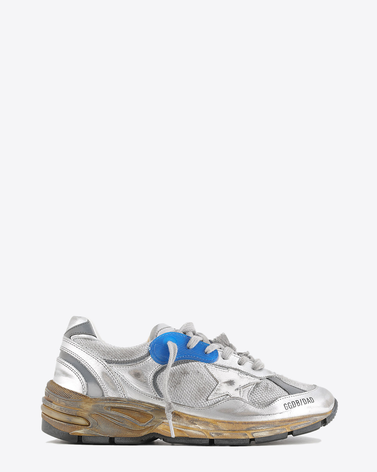 Golden Goose Woman Collection Sneakers Running Dad - White Silver 70137