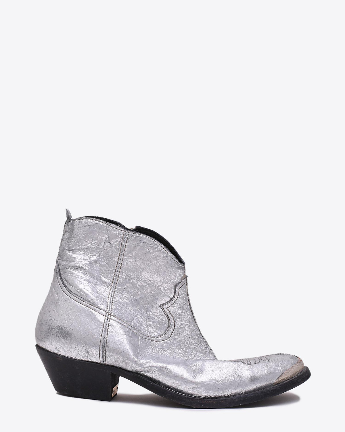 Golden Goose Woman Chaussures Collection Boots Young Gold And Silver