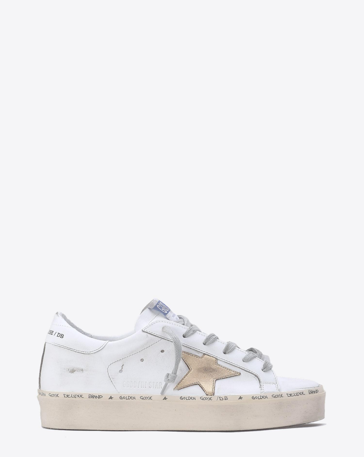 Golden Goose Woman Collection Sneakers Hi Star - White / Gold Leather Star