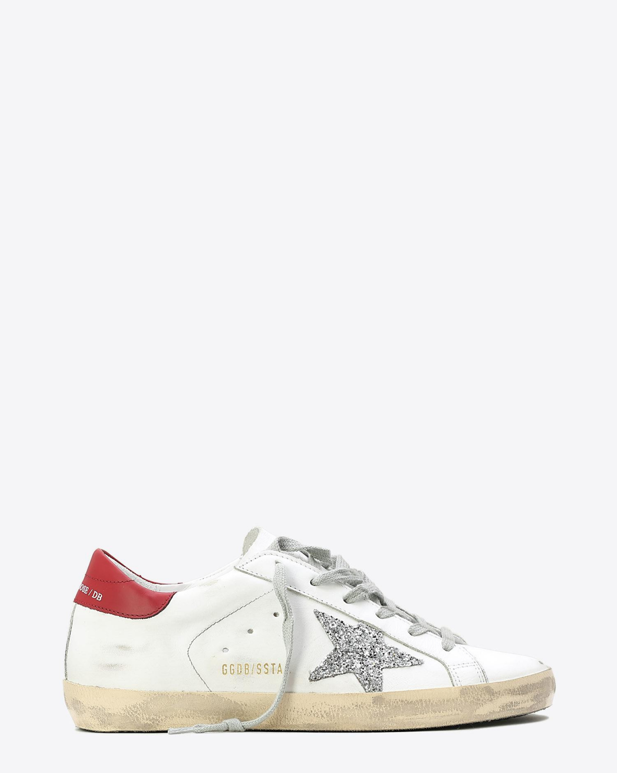 Golden Goose Woman Pré-Collection Sneakers Superstar White/Red - Silver Glitter