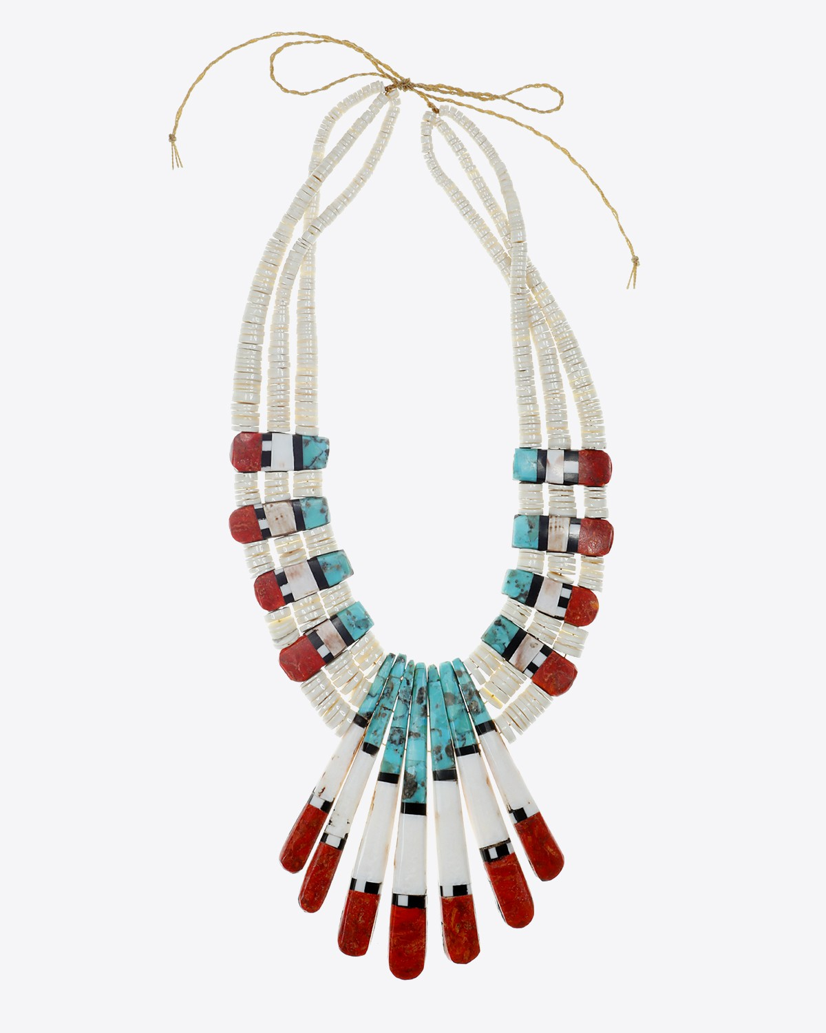 Harpo Collier Seven Fingers Turquoise Gorgonne et Coquillages