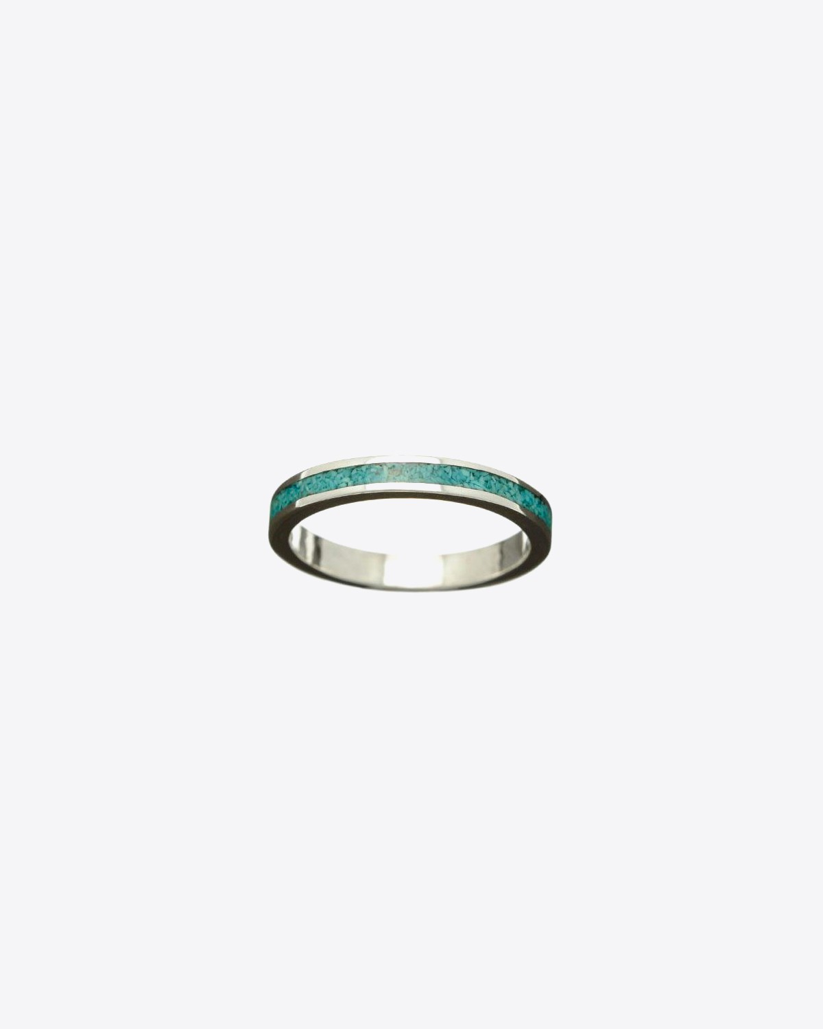 Harpo Permanent Bague Navajo Inlay Anneau Turquoise R730T