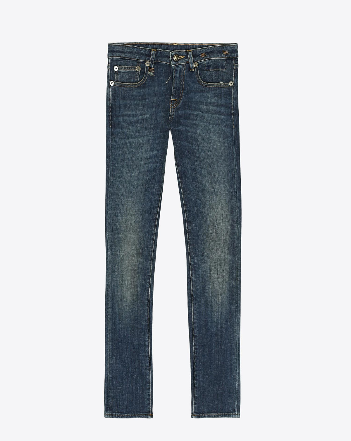 R13 Denim Permanent Kate Skinny - Dark Vintage Blue