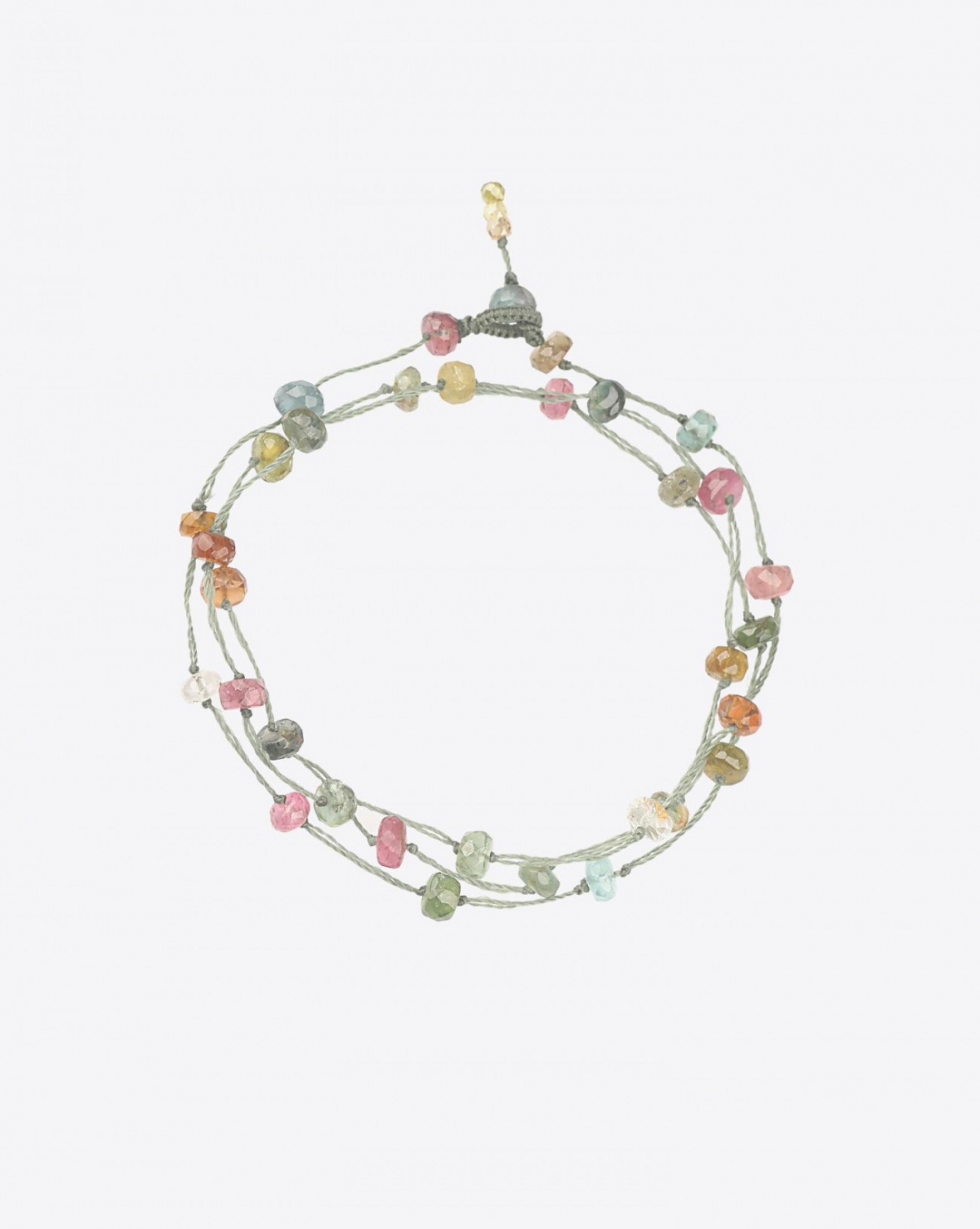 Sharing Bracelet 3 Tours LOOPY TOURMALINE - Cordon Vert