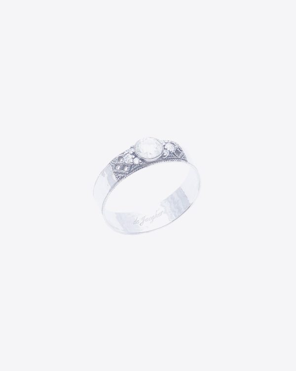 "Bague De Jaegher ""Love song"" en argent et diamants"