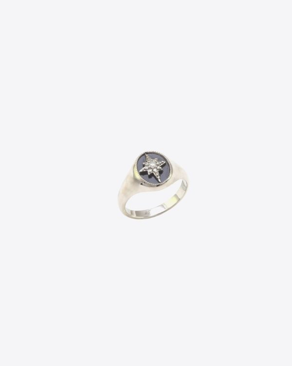 "Bague  De Jaegher ""Make a Wish"" en onyx et diamants blancs"