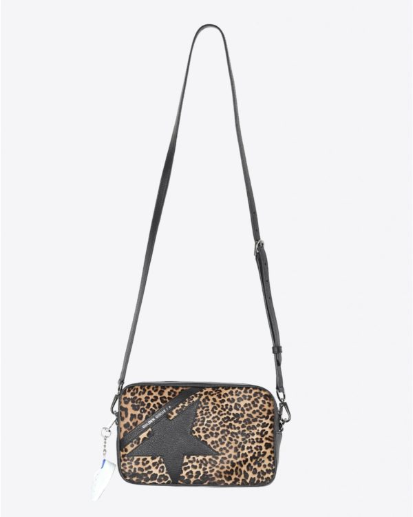 Sac Golden Goose Accessoires Collection Star Bag - Pony Calfskin With Leopard Print