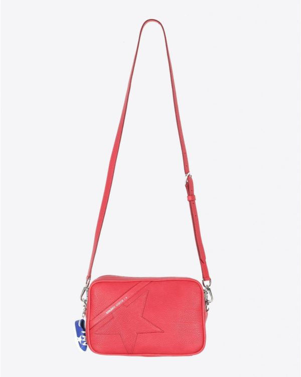 Sac Golden Goose Accessoires Collection Star Bag - Red Grained Calfskin