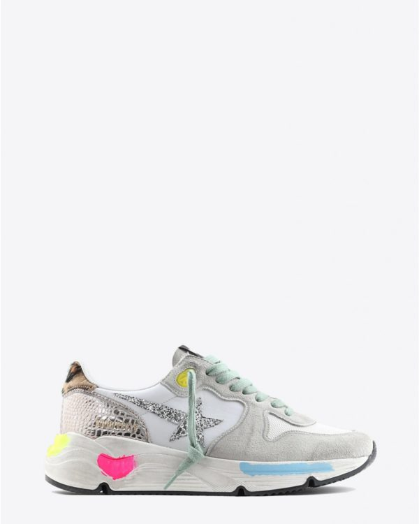 Sneakers Golden Goose Woman Pré-Collection Sneakers Running Sole - Ice Suede - Gold Cocco - Glitter Star