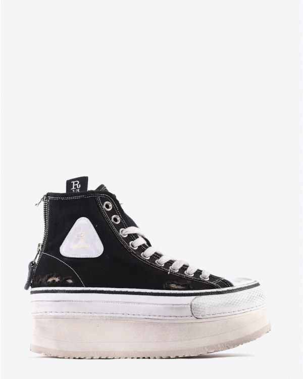 Sneakers R13 Denim Collection Platform High Top Sneakers - Black