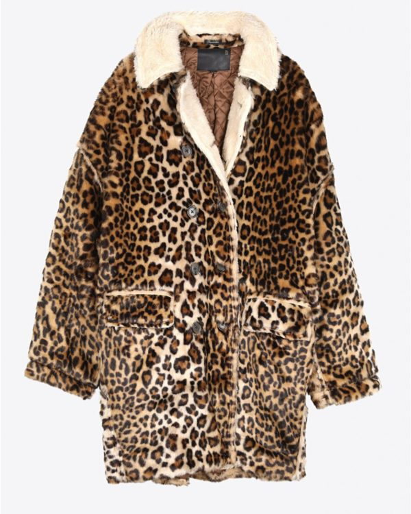 Manteau R13 Denim Pré-Collection Leopard Hunting Coat - Leopard
