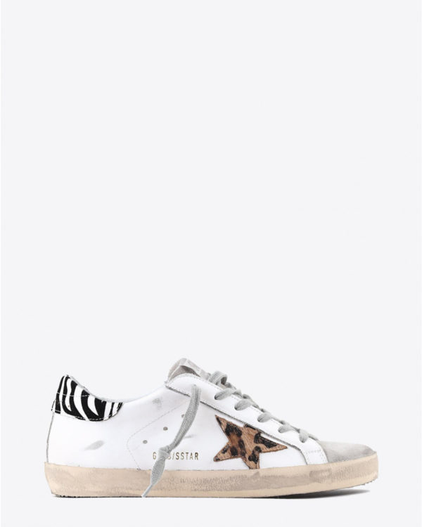 Sneakers Golden Goose Woman Pré-Collection Sneakers Superstar - White Leather - Pony Leo Star - Zigger Details