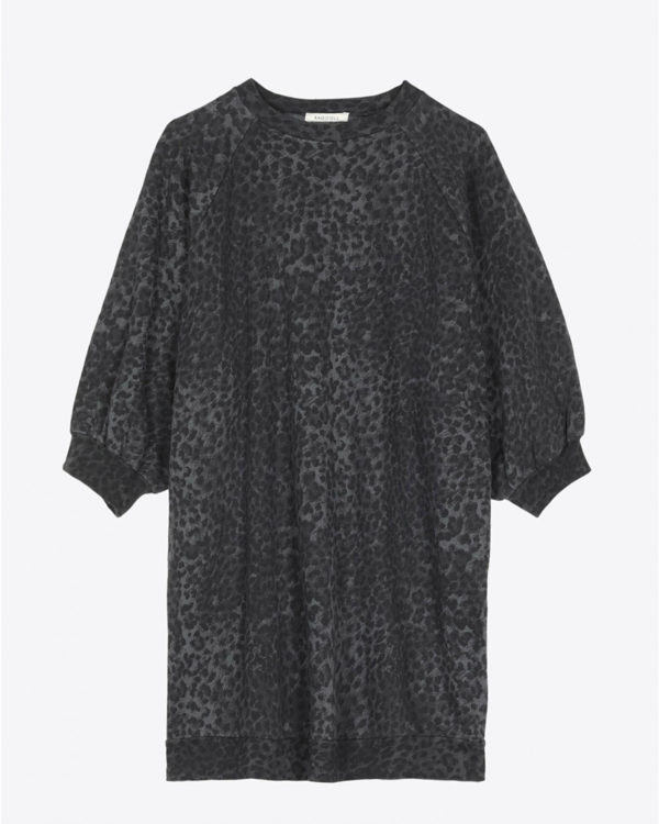 Sweat Ragdoll LA Super Oversized Sweatshirt - Anthracite Leopard