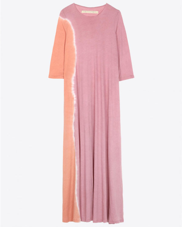 Robe Raquel Allegra Pré-Collection 1/2 Sleeve Drama Maxi Dress - Pink Sunrise